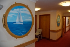 Care home Mural Sailing Boat
