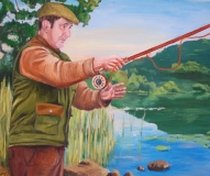 Fly Fishing Portrait